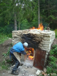 Lime burning in small lime kiln
